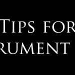 Tips for Instrument Care