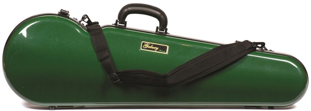 Galaxy 300SL Comet Violin Case in green ON SALE $337.00