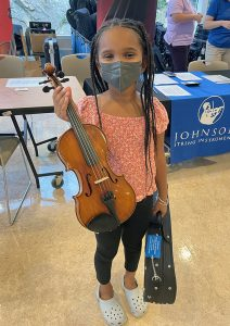 student with viola